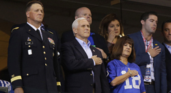 Pence Leaves Football Game