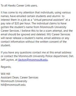 Fake Job Offer Email